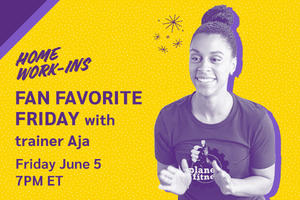 Image showing the copy Friday 7PM ET - Fan Fave Friday with Aja