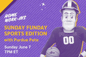 Image showing the copy Sunday 7PM ET - Sunday Funday Sports Edition with Purdue Pete